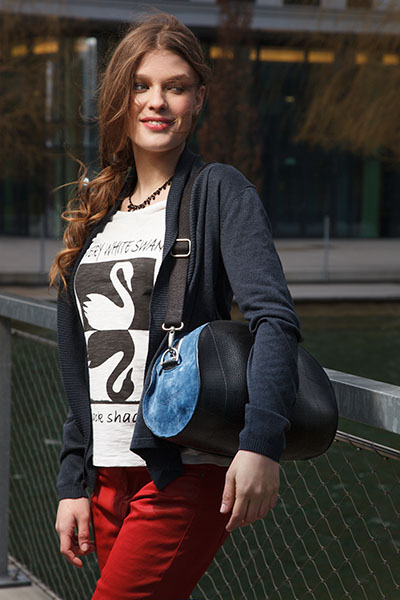 "Layout Shooting for Schreif handbags. Model: Nina Mitrovic (<a href=""http://www.bodyandsoul.at"">Body & Soul</a>) H&M: Melanie Böhm"